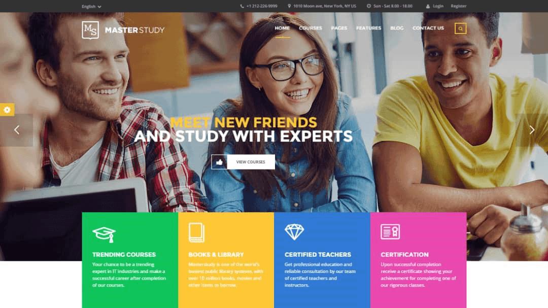 masterstudy قالب آموزشی وردپرس