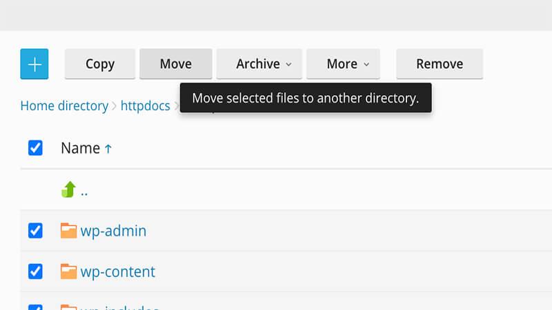 انتقال محتویات وردپرس به public_html